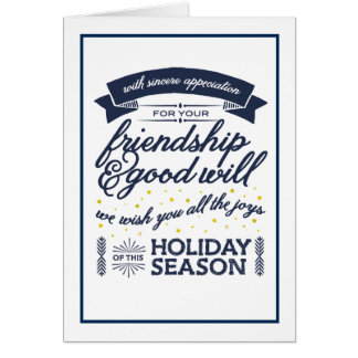 Friendship Navy Greeting Cards
