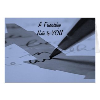 """""""FRIENDSHIP NOTE"""" FOR A CAREGIVER CARD"""