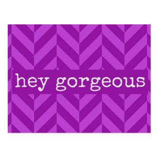 "Friendship or Flirty ""Hey Gorgeous"" Love Postcard"