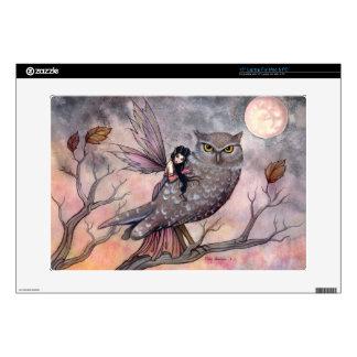 Friendship Owl and Fairy Fantasy Art Laptop Skin