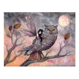Friendship Owl and Fairy Postcard