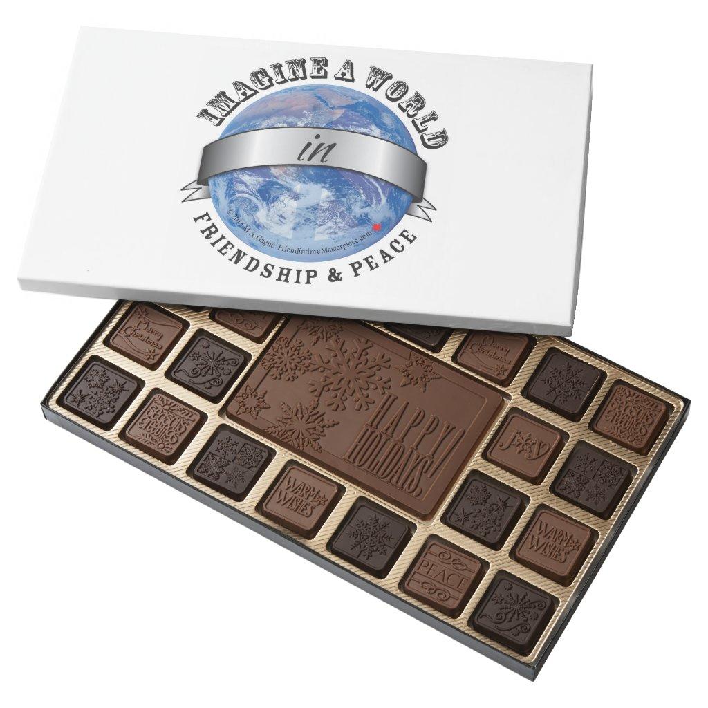 Friendship & Peace 45 Piece Box Of Chocolates