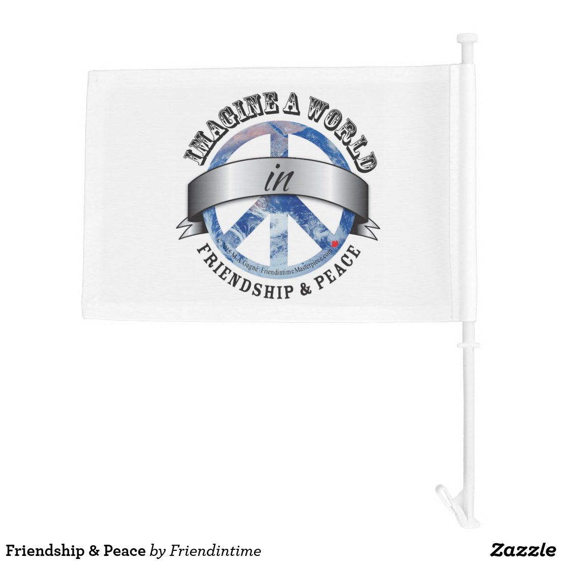 Friendship & Peace Car Flag