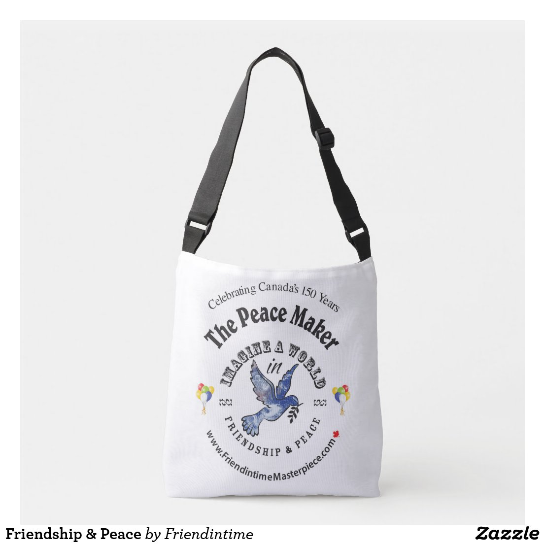 Friendship & Peace Crossbody Bag