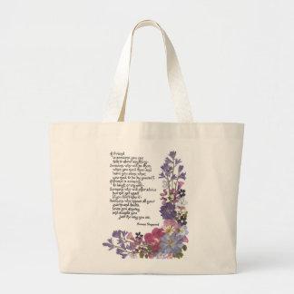 Friendship poem bags