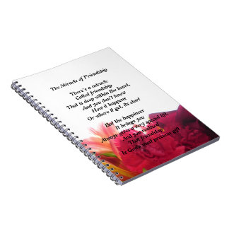 Friendship Poem Note Book Journal