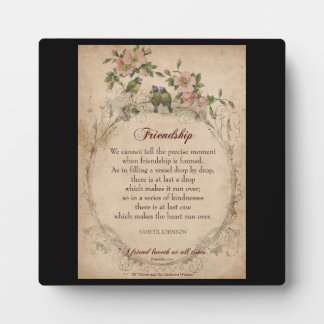 Friendship poem plaque