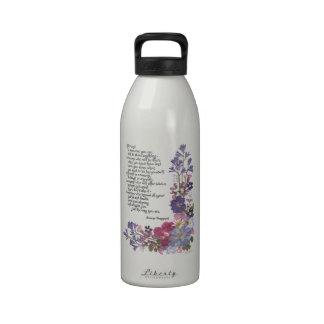 Friendship poem water bottle