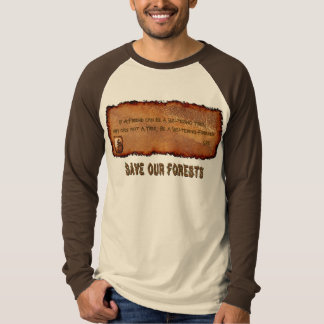 Friendship Poetry Tree-Lover's T-Shirt
