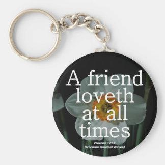 Friendship Proverbs 17:17 Condensed Keychain