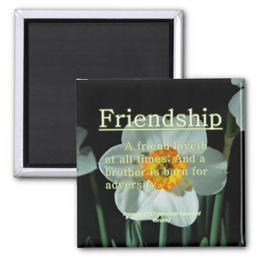 Friendship Proverbs 17:17 Magnet