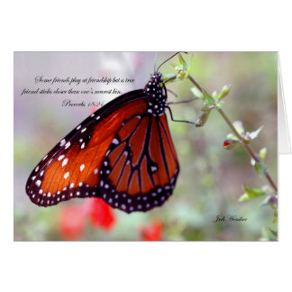 Friendship-Proverbs 18:24 Stationery Note Card
