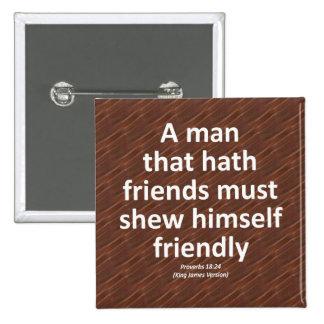 Friendship Proverbs 18:4 Condensed Button