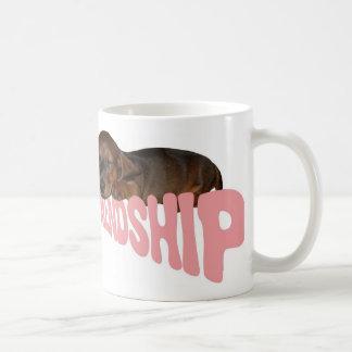 Friendship puppy / dog is man's best friend, pink coffee mugs