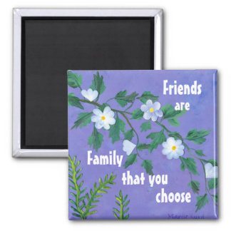 friendship quotation 2 inch square magnet