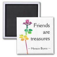 Friendship Quotation - Motivational Quote 2 Inch Square Magnet
