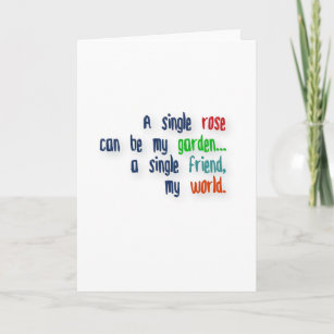 Rose Quote Cards Zazzle