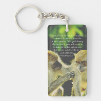 Friendship Quote by Vincent van Gogh Keychain