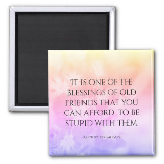 Friendship Quote Pretty Pink Magnet