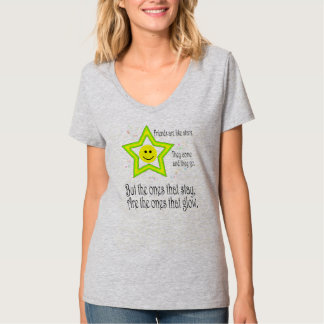 Friendship Quote Smiley Women's Hanes Nano V-Neck T-Shirt