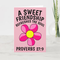 FRIENDSHIP REFRESHES THE SOUL, CHRISTIAN CARDS