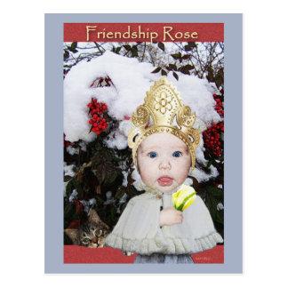 Friendship Rose Postcard