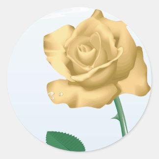Friendship Rose Round Stickers