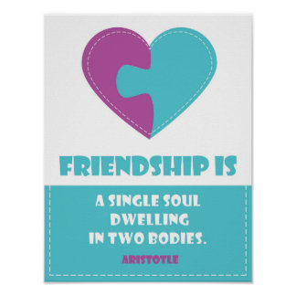 Friendship soul & body  a quote designed poster