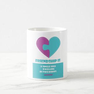 Friendship soul & body quote designed  mug