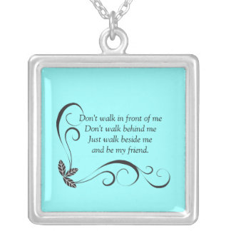 Friendship Sterling Silver Necklace teal
