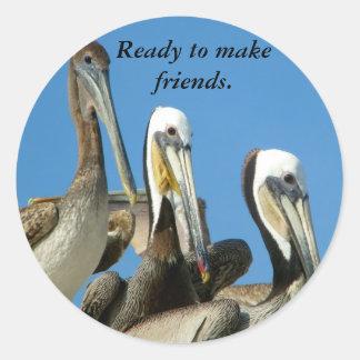 Friendship_Sticker Pegatina Redonda