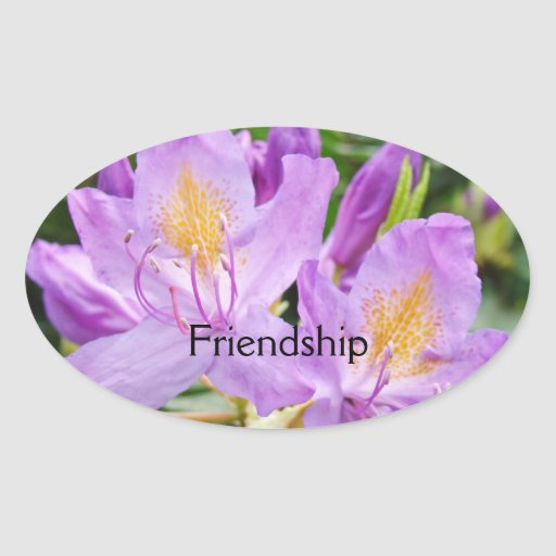 Friendship stickers custom Purple Rhododendrons