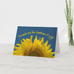 "Friendship Sunflower Card<br><div class=""desc"">Let your friend know just how special you think they are. Customize the inside of the pretty Friendship Sunflower Greeting Card with your own personal note or message. This cute and flowery note card features a floral photograph of a yellow sunflower blossom on a blue sky summer day.</div>"