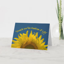 Friendship Sunflower Card