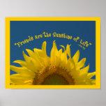 Friendship Sunflower Poster