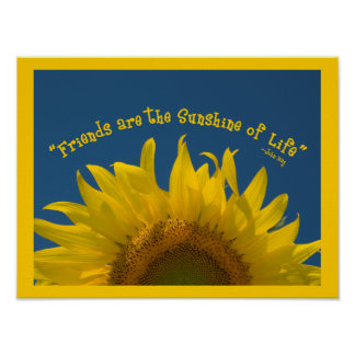 Friendship Sunflower Poster Print
