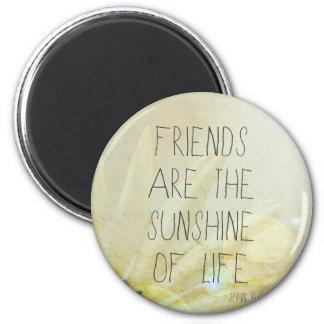 Friendship & Sunshine 2 Inch Round Magnet