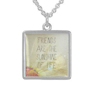 Friendship & Sunshine Sterling Silver Necklace