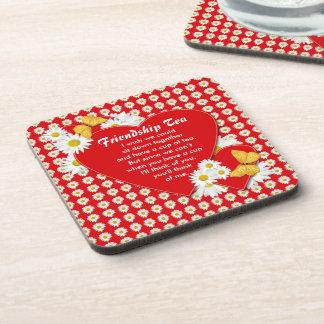 Friendship Tea Cork Coaster