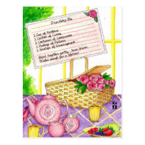 Friendship Tea Inspirational Post Card