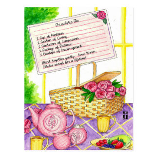 Friendship Tea Inspirational Post Card
