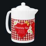"Friendship Tea Recipe Teapots<br><div class=""desc"">A little teapot covered with bright white daisies, red hearts and golden butterflies especially to make Friendship Tea for a delightful and meaningful gift. Includes recipe for Friendship Tea and a special thinking of you verse. All text may be personalized in template provided. If you have your own special recipe...</div>"