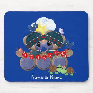 Friendship Teddybears (customized) Mouse Pad