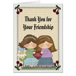 Friendship Thank You Greeting Card