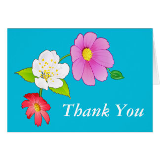 Friendship Thank You Notes Hawaiian Flowers Card