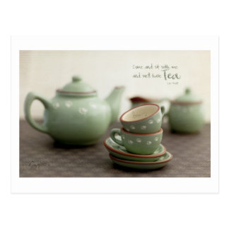 Friendship theme, Tea Lovers Postcard