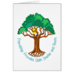 Friendship Tree Provides Shelter and Roots Greeting Cards