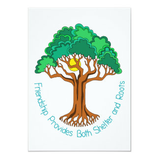 Friendship Tree Provides Shelter and Roots Card