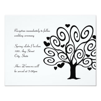 Friendship Tree Wedding Reception Card