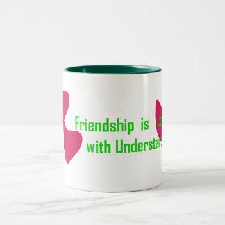 Friendship Two-Tone Coffee Mug